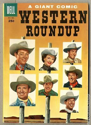 Dell Giant Western Roundup #12 1955 VG+ 4.5