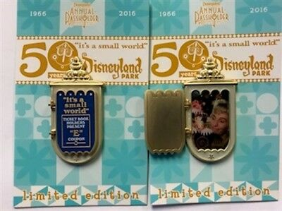 Disneyland It's a Small World 50th Mary Blair Marquee E Ticket Disney LE Pin