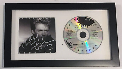 Bryan Adams REAL hand SIGNED Reckless CD Framed Display BAS COA Autographed