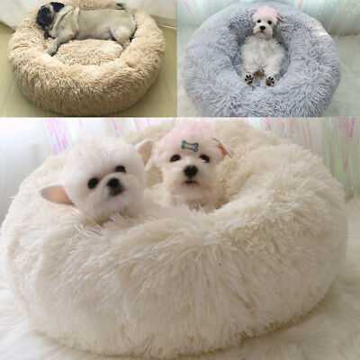 Soft Plush Dog Bed Washable Fluffy Cushion Warm Luxury Pet Cat Puppy Mat Nest UK