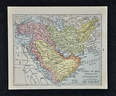 1917 McNally Map - Middle East - Arabia Turkey Persia Afghanistan Iran Iraq