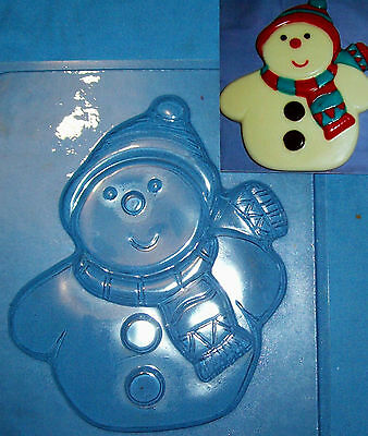 Large Snowman With A Cap And Scarf Christmas Chocolate Mould Or Plaster Mould