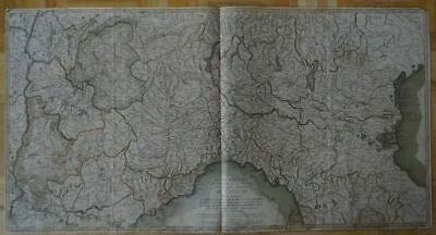 Italy - large coloured copper map Hubert Jaillot 1793