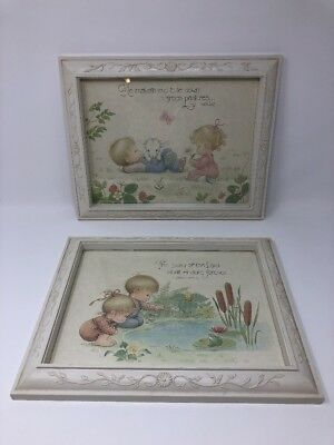 Vintage DBGCI Childrens Nursery Wall Hangings 10x13 Religious Psalm 104:31 23:2