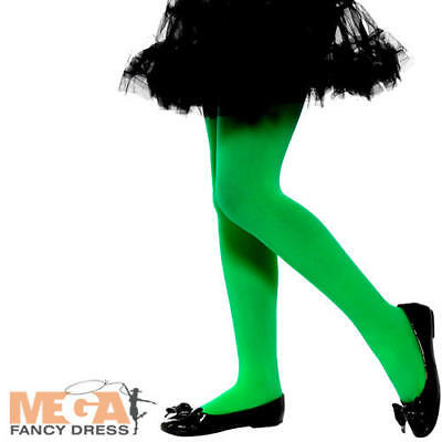 1beedd0a2789c Green Opaque Tights Girls Fancy Dress Halloween Wicked Witch Costume  Accessory