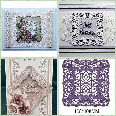 Vintage Flower Frame Metal Cutting Dies Stencils DIY Scrapbook Photo Paper Cards