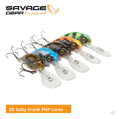 Savage Gear 3D Goby Crank PHP Lures - Pike Perch Trout Zander Fishing Tackle