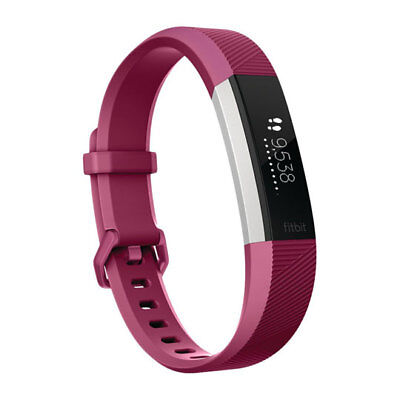 Fitbit Alta HR Heart Rate Activity Tracker, Size Small, Fuchsia