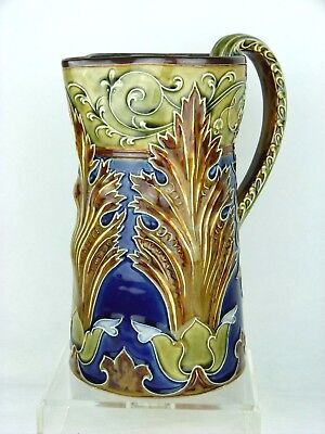 A Truly Magnificent Doulton Lambeth Art Nouveau Jug by Mark V Marshall. C1900.