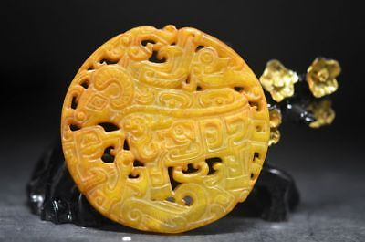 Chinase  exquisite old jade hand carved *sheep* amulet statue Pendant   a42