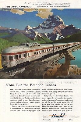 """Canadian Pacific """"THE CANADIAN"""" built by Budd - Original Anzeige von 1955"""