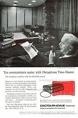 Dictaphone Time-Master and the Dictabelt Record - Original Anzeige von 1957