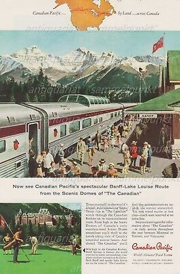 Canadian Pacific THE CANADIAN - SCENIC DOME STREAMLINER Original Anzeige v. 1958