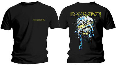IRON MAIDEN Powerslave Eddie Head & Logo T-SHIRT OFFICIAL MERCHANDISE