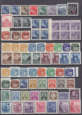 BOHEMIA and MORAVIA - NAZI GERMANY OCCUPATION 1939-1945 LOT OLD STAMPS - **MNH**