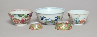 A Good Group Antique 18Thc And Later Chinese Porcelain Tea Bowls Etc