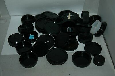 Job Lot Of 40  Mixed Body And Lens Caps