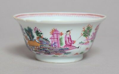 A Good Antique 18Thc Chinese Porcelain London Giles Decorated Slop Bowl