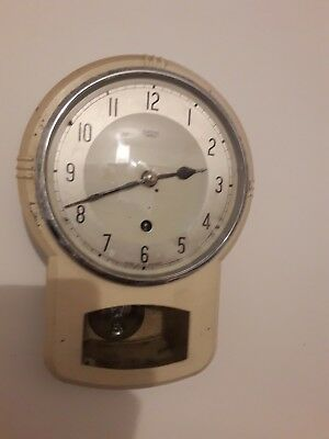 Vintage Wall Clock, Smiths Enfield, pendulum, good working order, original cond.