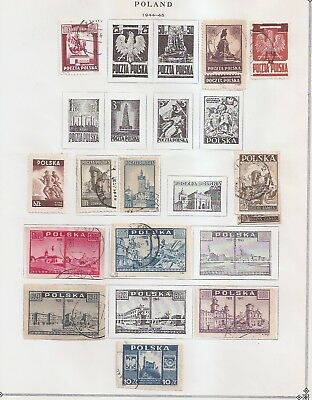 Poland 1944-1951 collection from old Scott Printed Album a2516-9