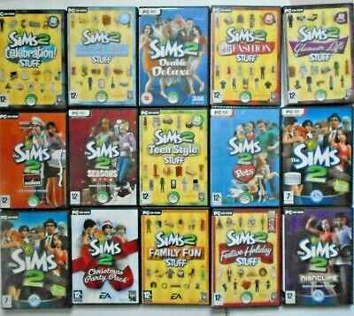 The Sims 2 Expansion Packs & Base PC Games / Individual Add-On (Various) £2.50 +
