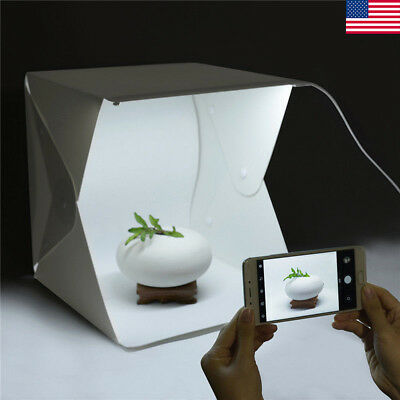 """Photo Studio 9"""" Photography Lighting Tent Kit Backdrop Cube In A Box Mini Stand"""