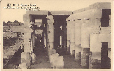 Africa Egypt old PC Karnak Temple Ammon Hall Thutmose III post card real photo