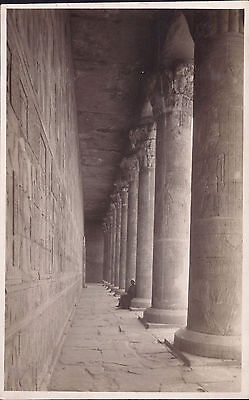Africa Egypt old PC Luxor Temple View Colonnades post card real photo unused
