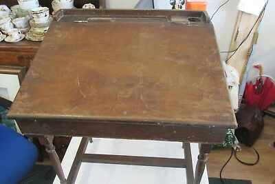 original TRIANG CHILD'S WOODEN  DESK labelled approx 1933