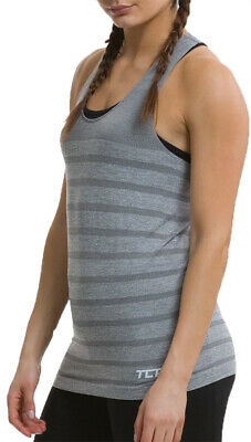 TCA Womens Quick Dry Super Knit Seamless Ventilated Running Vest Tank Top Grey