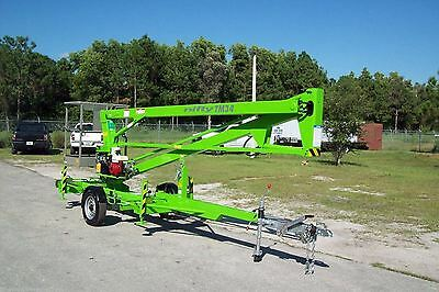 Nifty TM34M 40 Ft Towable Boom Lift, Goes Thru 4' Gate,Buy For Year End Taxes