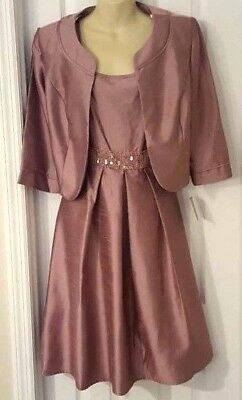 28188349 MAYA BROOKE Womens Dress Size 8 with Jacket Cocktail Fit and Flare Beaded  Sequin