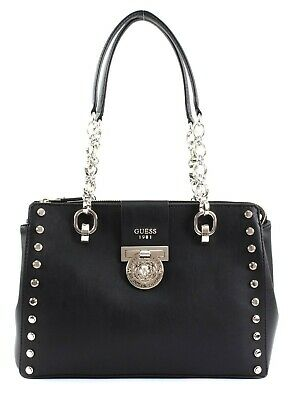 Borsa A Spalla Guess Marlene Luxury Satchel 3 Comp. Nero Bs19Gu41