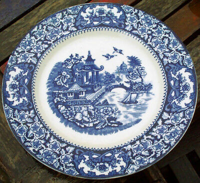"""Willow"" Pattern  ???? plate, 10 wide."