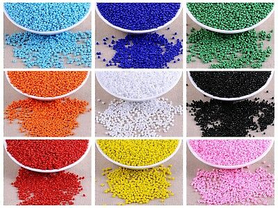 5000 Opaque Rocailles Glass Seed Beads 2mm (10/0) + Storage Box Jewelry Making