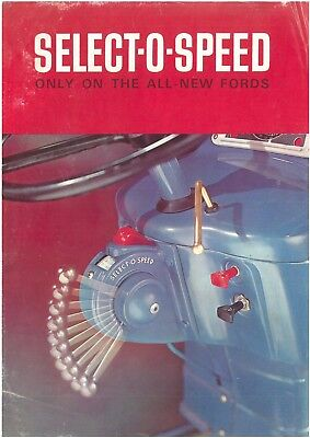 Ford Tractor Select-o-Speed Brochure