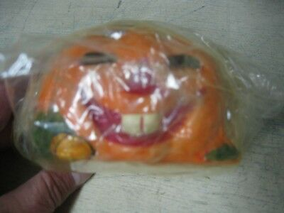 Vintage Amscan Pumpkin Jack O Lantern Candle New In Package