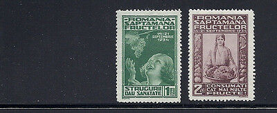 ROMANIA 1934 National Fruit Week (Sc 440-41) F/VF MH