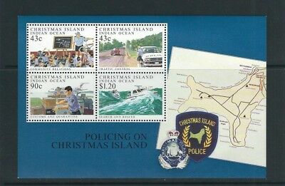 CHRISTMAS ISLANDS 1991 POLICE FORCE SEARCH and RESCUE etc souv. sheet VF MNH