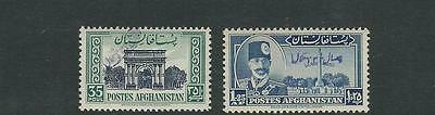 AFGHANISTAN 1951 33rd YEAR of INDEPENDENCE (Scott 386-87) VF MNH