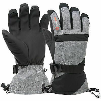 Alpine Swiss Mens Waterproof Gauntlet Ski Gloves Winter Sport Snow Board Skiing