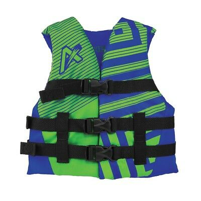 Airhead Trend Boys Closed Side Life Vest Blue/Green Child 30-50lbs