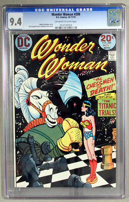 Wonder Woman #208 CGC 9.4 NM, Low Start PRICE! Awesome Cover
