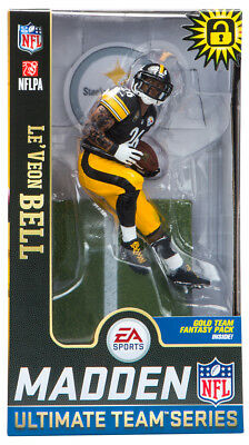 f3925bf175e Le Veon Bell Pittsburgh Steelers Madden NFL 19 Ultimate Team Series 2  McFarlane
