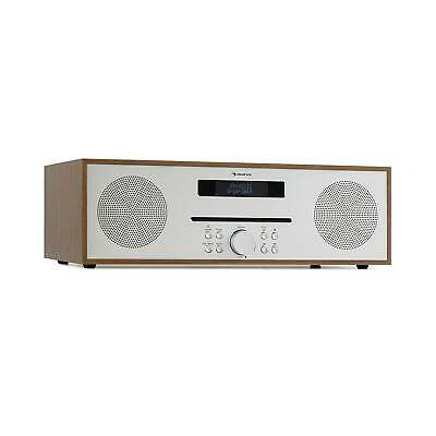 Stereoanlage CD Player FM Radio Tuner Lautsprecher USB MP3 Bluetooth Box braun