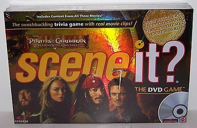 """Disney Scene It """"PIRATES OF THE CARIBBEAN"""" All 3 Movies Trivia DVD Game *NEW*"""