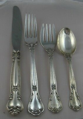 @ Gorham Chantilly Sterling Silver Four Piece PLACE SIZE Settings