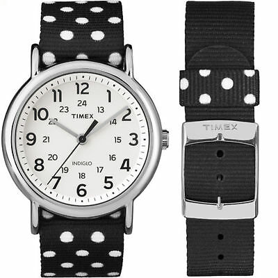 Timex TW2P86600,  Weekender Reversible Nylon Strap Watch, Indiglo, 38MM