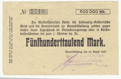 006 Brunsbüttelkoog, Bank, 500T.Mark, 22.8.23