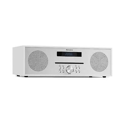 Stereoanlage CD Player FM Radio Tuner Lautsprecher USB MP3 Bluetooth Box weiß
